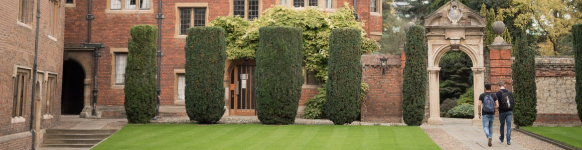 Slideshow image of Pembroke College, founded in 1347 by Marie de St Pol, Countess of Pembroke,