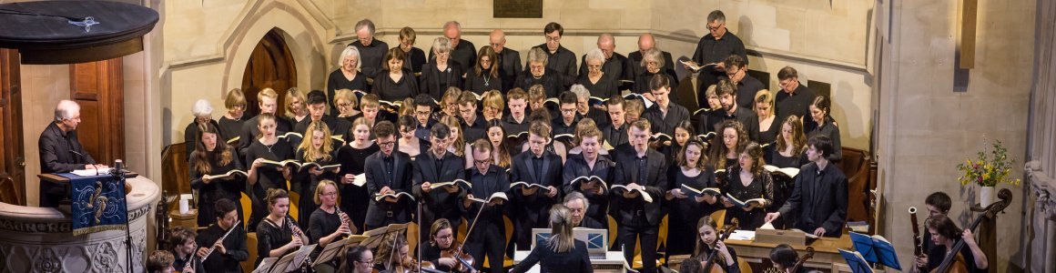 Image of choir singing inside the Chapel