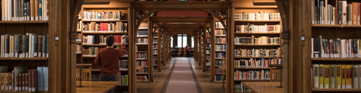 Slideshow image of Pembroke College Library, a beautiful Victorian building