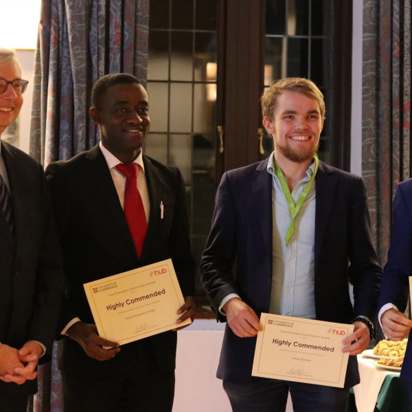 Professor Stephen Toope with VCSIA winners 2019